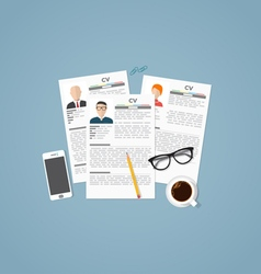 Job profiles vector
