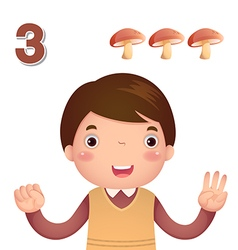 Learn number and counting number three vector