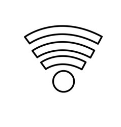 Line wifi technology to connect in the digital vector