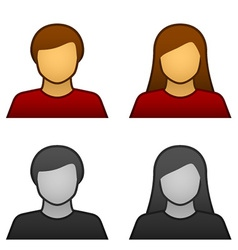 Male female avatar icons vector