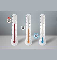 Meteorology thermometer with high low middle vector