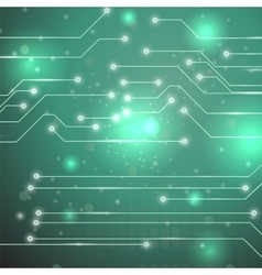 Modern Computer Technology Green Background vector