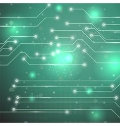 Modern Computer Technology Green Background vector image