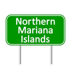 Northern Mariana Islands road sign vector