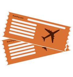 orange pattern airline boarding pass vector image
