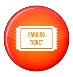 Parking ticket icon flat style vector