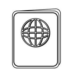 Passport document isolated icon vector