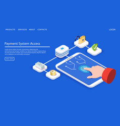 payment system access website landing page vector image