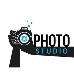 Photographer hands with camera flat vector image