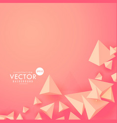Ping 3d polygon triangle background vector