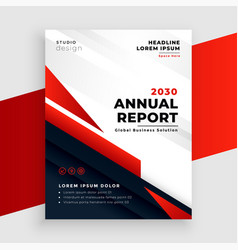 red annual report or business flyer template vector image