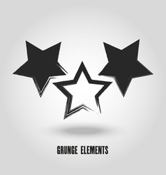 Red grunge star logo on a white background vector