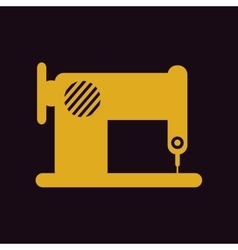 Retro sewing machine vector