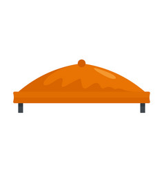 round outdoor tent icon flat style vector image
