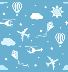 Seamless pattern sky background vector
