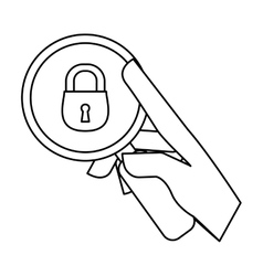 security or privacy related icons image vector image
