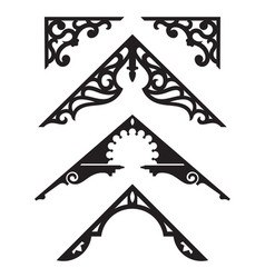 set of victorian gingerbread architectural trim il vector image