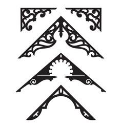 set victorian gingerbread architectural trim il vector image
