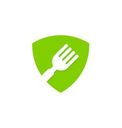shield food logo icon design vector image