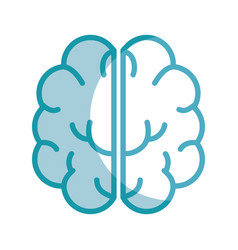 Silhouette creative brain and mental healthy vector
