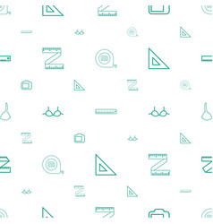 Size icons pattern seamless white background vector