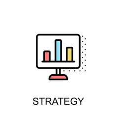 Strategy icon isolated background vector