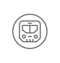 subway sign metro underground transport train vector image
