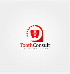 Tooth icon templatedental consult vector