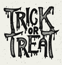 Trick or treat halloween theme hand drawn vector
