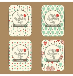 Valentines cards set vector