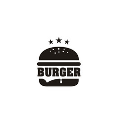 vintage retro cheese burger hamburger patty logo vector image