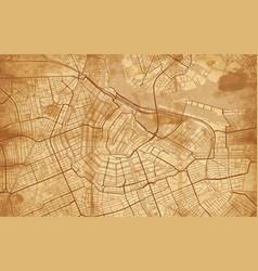 vintage street map city amsterdam vector image
