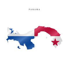 Waving flag map panama vector