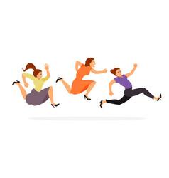 Women running on sale vector
