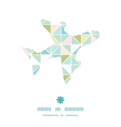 colorful pastel triangle texture airplane vector image vector image