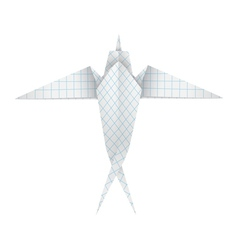 Origami swallow vector image vector image