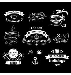 Summer signs set vector image