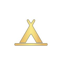 Wigwam computer symbol vector image vector image
