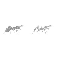 ant it is black icon vector image vector image
