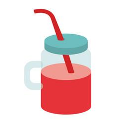 jar with juice fruit vector image