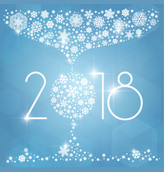 new year 2018 with white vector image vector image