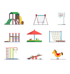 playground equipment fun area for kids vector image vector image