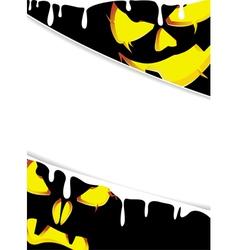 Pumpkin monsters with glowing eyes vector image