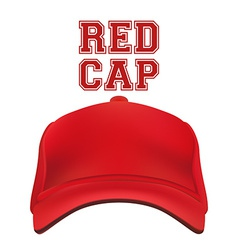 Red Cap isolated on white vector image vector image
