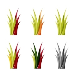 Set of abstract eco plant icons business logotype vector image