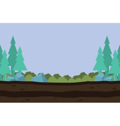 Silhouette of nature landscape game background vector image