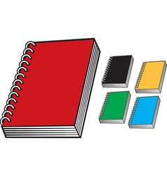 Bright Notebook Icon Set vector image vector image