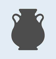 Icon of Ancient antique vase or amphora Pottery vector image vector image