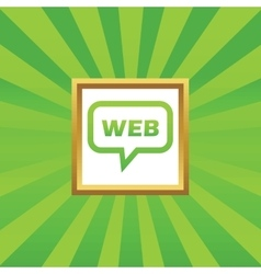 WEB message picture icon vector image