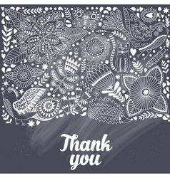 doodle elements made of flowers and vector image vector image